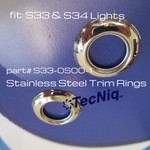 100 PACK  S33-0S00-1 Stainless Steel Trim Ring for S33 and S34