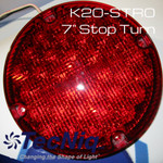 "TecNiq 7"" Round Stop Turn High Intensity RED School Bus New K20-STRO-1"