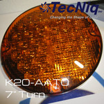 "TecNiq 7"" Round Turn High Intensity AMBER School Bus New K20-AATO-1"