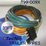 T99-0093-1  35ft 4 pole Trailer Wire Harness by TecNiq