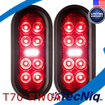 "2Pack  T70-RW0A-1 TecNiq 6"" Oval Stop Tail TURN with REVERSE Light"