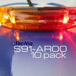 10 Pack TecNiq S91 Heavy Duty Bi-Color Fender Sidemarker Lights USA