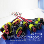 10 PC AMP-Pigtail wires 18gauge Connector for Stop Turn Tail lights