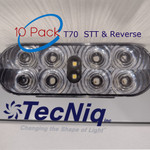 """10 pack T70-RCOA-1 TecNiq 6""""CLEAR LENS Oval Stop Tail TURN with REVERSE Light"""