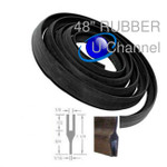 New Size Black Rubber U Channel Aircraft Quality