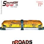 """nROADS 17"""" Amber Class 1 SoundOFF Lightbar"""