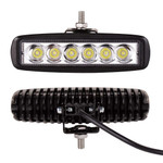 "2 Pack Work Lights 18W 6"" 1550 lumen 12-24volt"