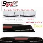 "mPOWER Tahoe Rear Spoiler 4"" Stud Mount Bracket Kit"
