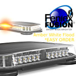Fusion Mini X Lightbar AMBER WHITE Flood Easy Order