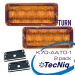 TecNiq K70-AAT0-1  Turn Signal Amber Lens 2 Pack