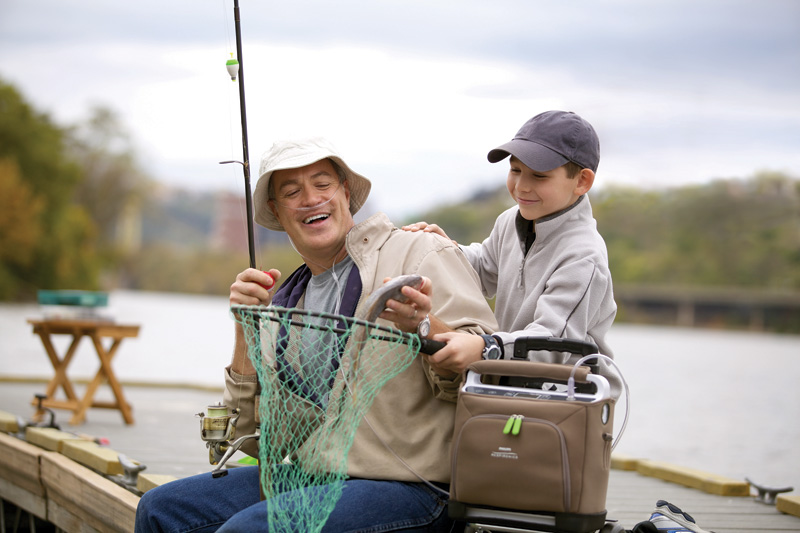 SimplyGo-portable-oxygen-concentrator-fishing-grandchild