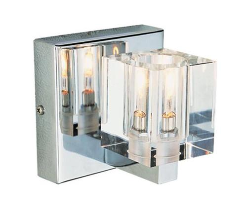 Halogen Bathroom Sconces 1 light chrome crystal halogen bath sconce