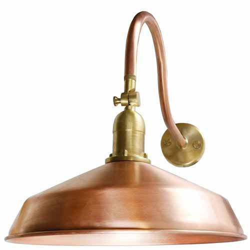 LED Outdoor Gooseneck Lighting - Raw Copper Barn Light - ADLXSV925RC - Outdoor Gooseneck And Barn Lights AQLighting