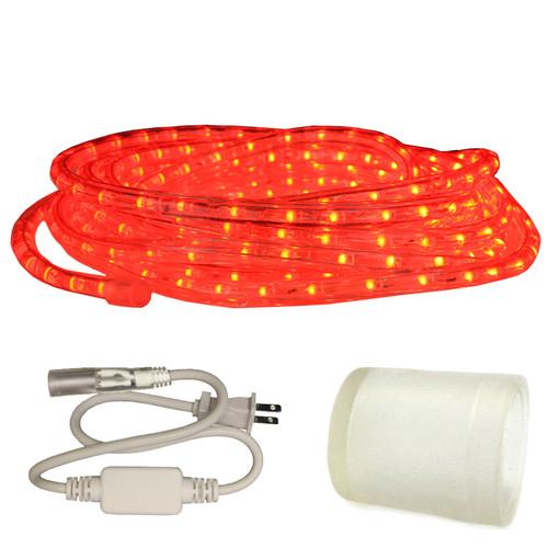 120v Custom Length Red LED Type 513 Rope Light - 513PRO-SERIES - Custom Cut AQLIGHTING