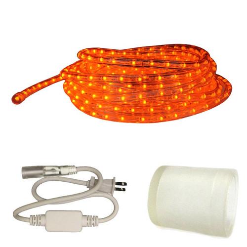 Home Theater Rope Lighting: 120v Custom Length Orange LED Type 513 Rope Light