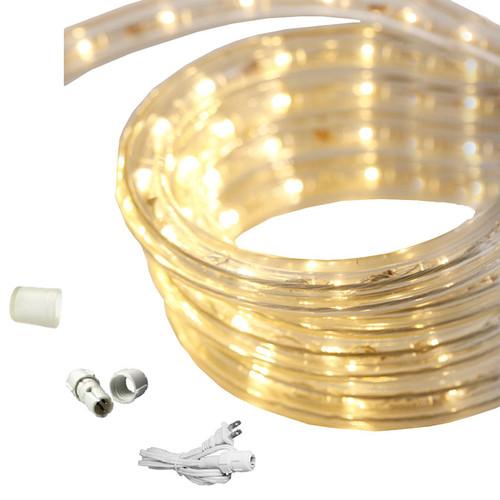 150 ft warm white led rope light kit 120v ledropekits ww by aql. Black Bedroom Furniture Sets. Home Design Ideas