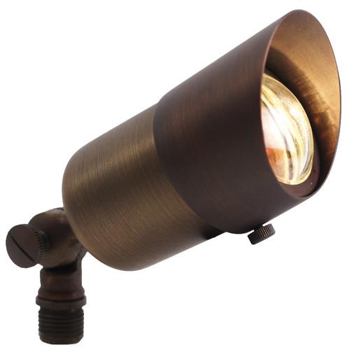 Outdoor Lighting Spotlights For Home Mini Microscope: 12V Mini Brass Spotlight W/ Open Face Cover (PSDX108) By
