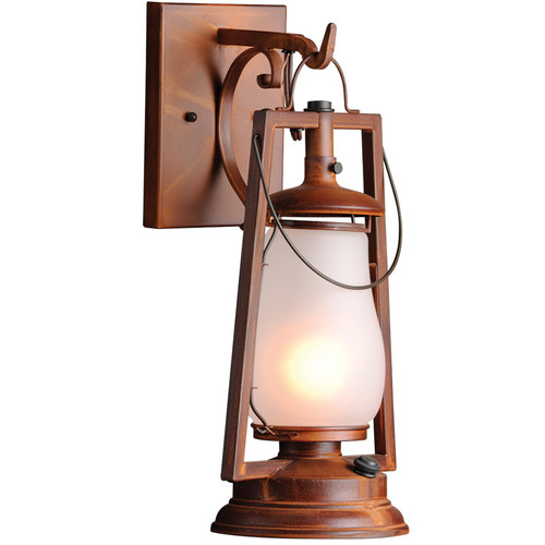 120V 49er Vintage Hook Arm Wall Mount Lantern (752S-1) By