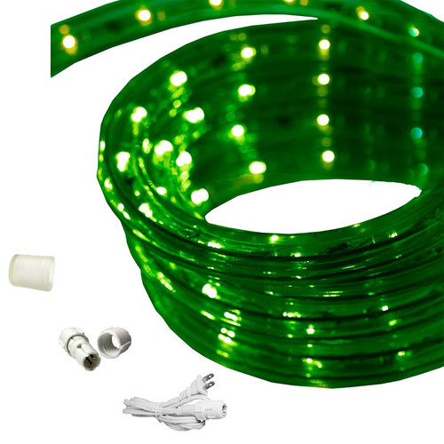 120 Volt Led String Lights : 65 FT LED Rope Light - Green 120 volt (EZ-LED-120-GRN-65) by AQL