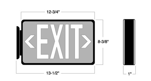 self luminous tritium emergency exit sign by aql. Black Bedroom Furniture Sets. Home Design Ideas