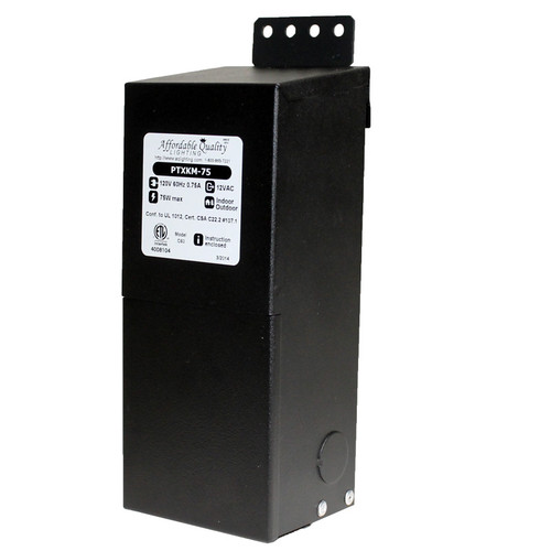 12V 75w Indoor/Outdoor Rated AC Transformer W/ Boost Tap
