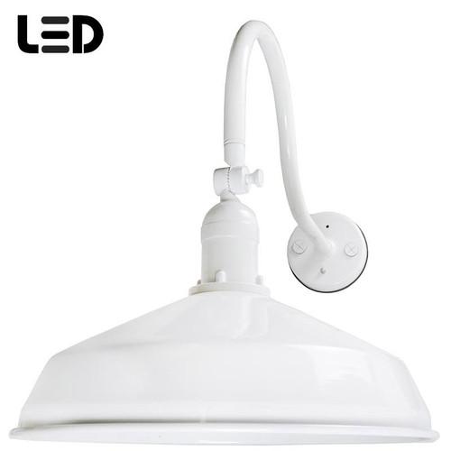 120V LED RLM Metal Gooseneck Barn Light