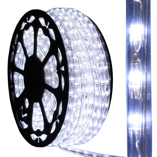 120v dimmable led cool white rope light 150ft 513pro series ak led 513 cw by aql. Black Bedroom Furniture Sets. Home Design Ideas