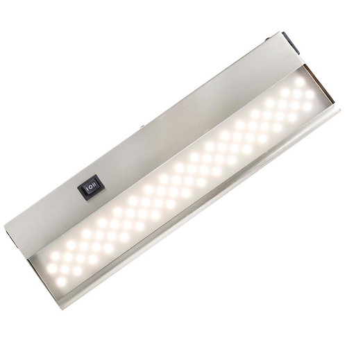 led under shelf lighting. cuchv led under cabinet light bar in brushed nickel led shelf lighting i
