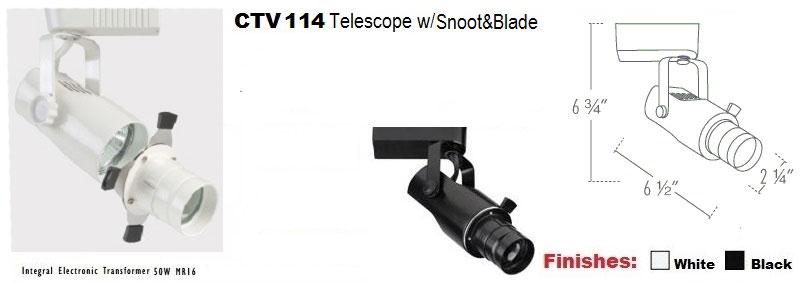 12v Telescopic Snoot Amp Blade Track Light Ctv114 By Aql