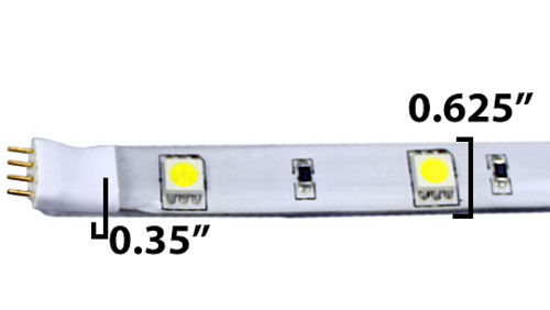 LED Tape Light Dimensions
