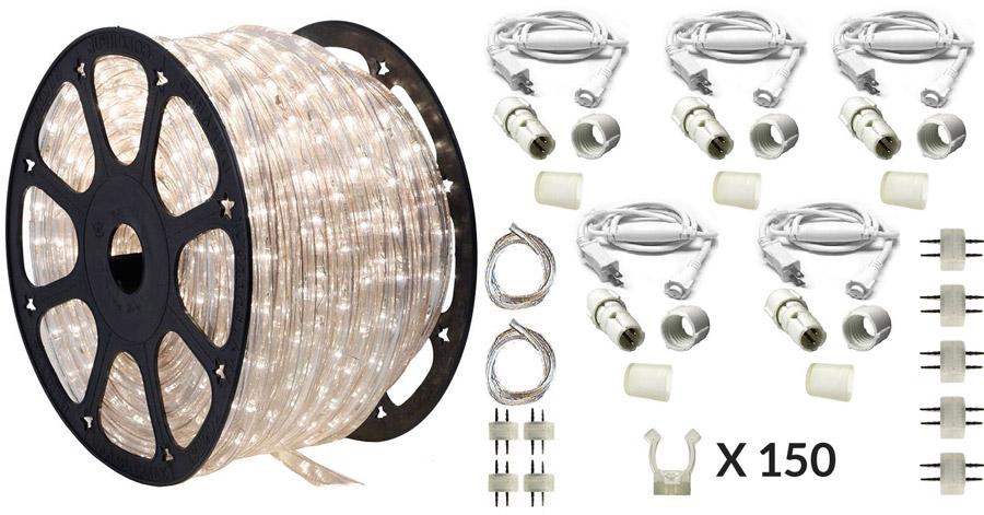 150 ft moonlight led rope light kit 120v ledropekits moonlight by aql. Black Bedroom Furniture Sets. Home Design Ideas