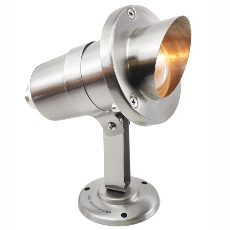 12V Stainless Steel Underwater Spotlight w/ Angle Shield PU-SSDX-900 Construction