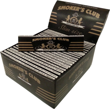 SMOKER'S CLUB SLIM (109mm. X 44mm.) Paper Quality: 13.5 gsm  (Ultra Transparent Paper) Box of 50 SLIM Booklets