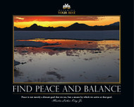 Find Peace and Balance: Sunset over water