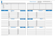 7-Hole Punched Weekly Planning Sheets