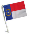 STATE of NORTH CAROLINA Car Flag with Pole