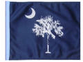 SSP Flags STATE OF SOUTH CAROLINA / PALMETTO Motorcycle Flag with Sissybar Pole or Trunk Pole