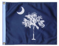 STATE OF SOUTH CAROLINA / PALMETTO 11in X 15in Flag with GROMMETS