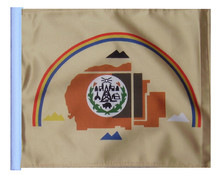 SSP Flags Navajo National Motorcycle Flag with Sissybar Pole or Trunk Pole