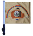 "SSP Flags NAVAJO NATION 11""x15"" Flag with Pole and EZ On Extended Straps Bracket"