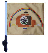 """SSP Flags NAVAJO NATION 11""""x15"""" Flag with Pole and EZ On Extended Straps Bracket"""