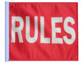 RULES 11in x15 Replacement Flag for Motorcycle, Golf Cart and Car flag poles
