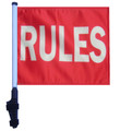 SSP Flags RULES Golf Cart Flag with SSP Flags Bracket and Pole