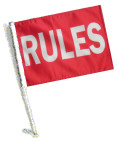 RULES Car Flag with Pole