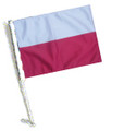 POLAND Car Flag with Pole