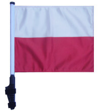 "SSP Flags POLAND 11""x15"" Flag with Pole and EZ On Extended Straps Bracket"