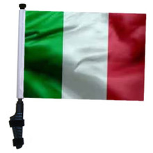 "SSP Flags ITALY 11""x15"" Flag with Pole and EZ On Extended Straps Bracket"