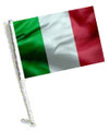 ITALY Car Flag with Pole