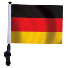 "SSP Flags GERMANY 11""x15"" Flag with Pole and EZ On Extended Straps Bracket"