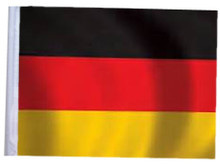 GERMANY SSP Motorcycle Flag with Sissybar or Trunk Style Pole
